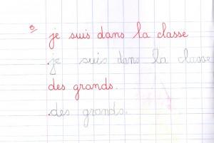 écriture GS