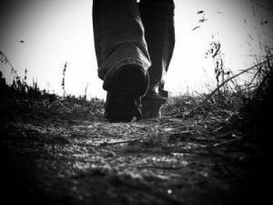 marcher noir et blanc