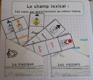 cahier inter le champ lexical