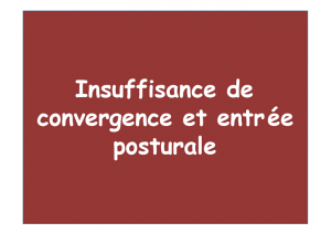 Insuffisance convergence