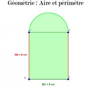Géométrie aire + périmètre