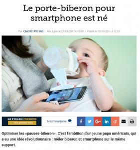 porte smartphone biberon